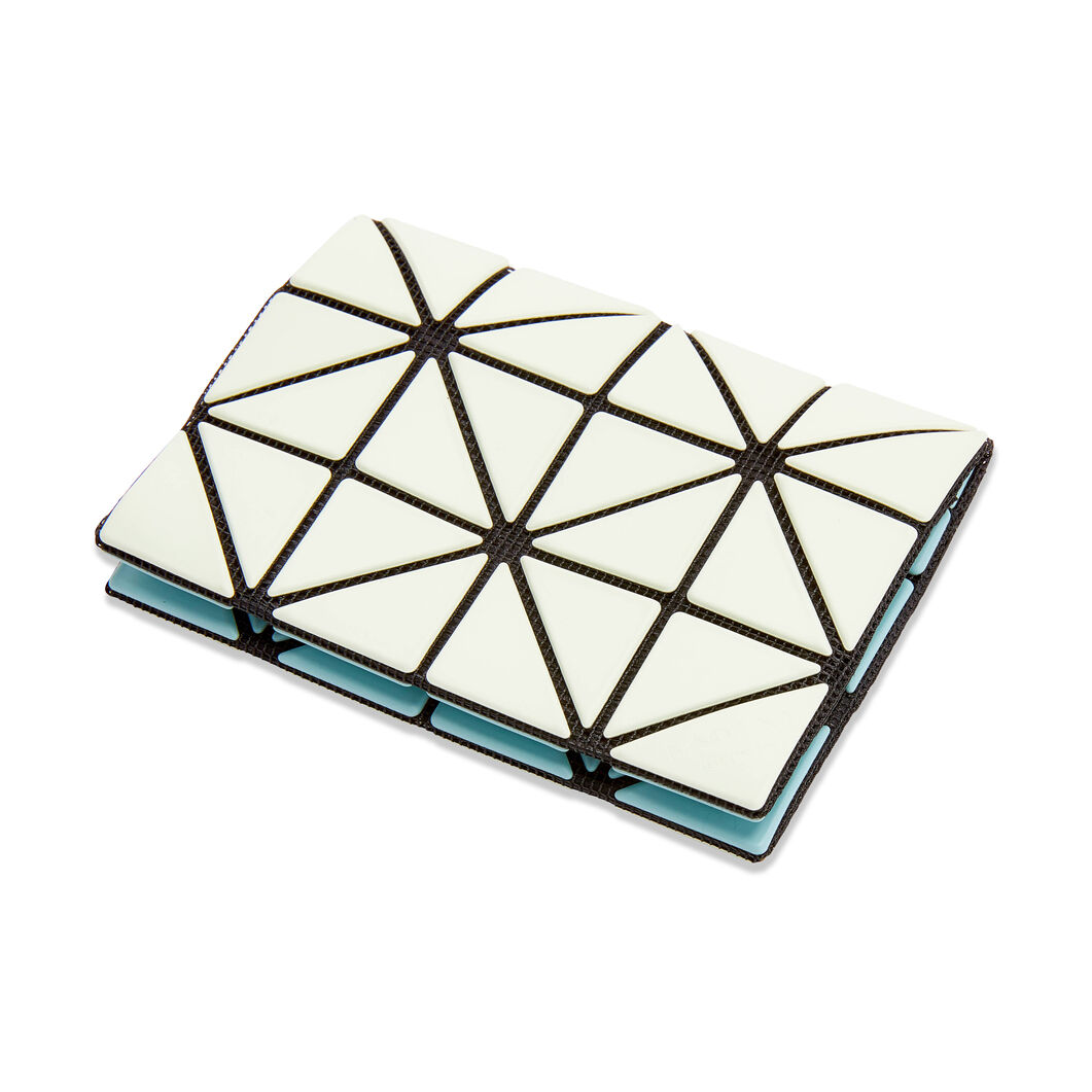 BAO BAO ISSEY MIYAKE Bi-Color Card Case in color Green/ Light Green