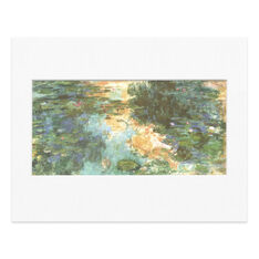 Monet: The Water Lily Pond Matted Print in color