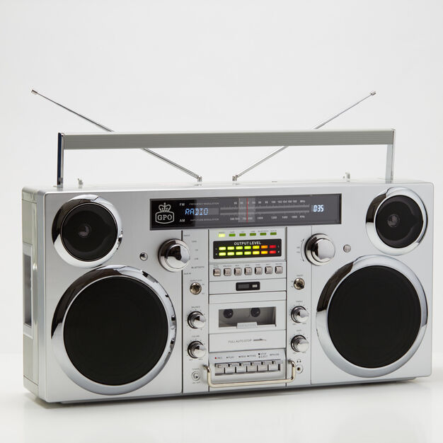 Brooklyn Boombox in color Silver