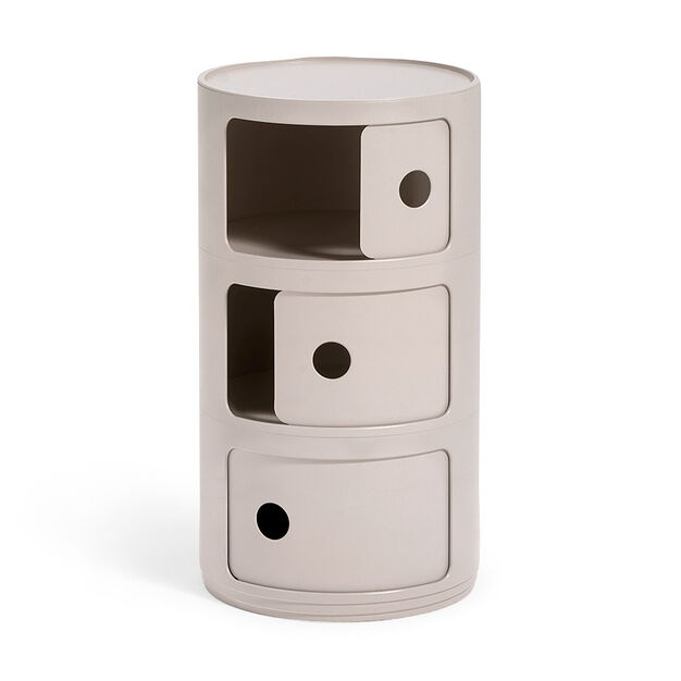 Kartell Bio Componibili 3 Tier Storage in color Cream