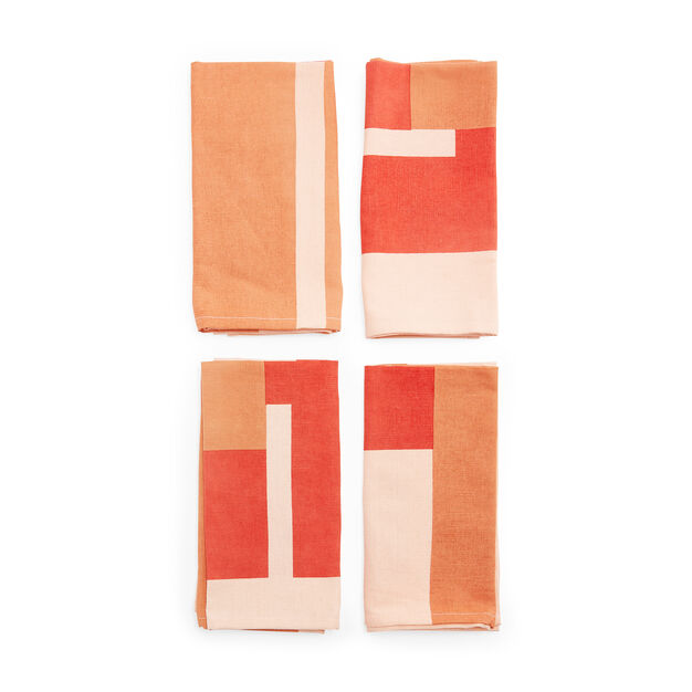 Marguerita Mergentime Once in a While Cloth Napkins (Set of 4) in color Orange