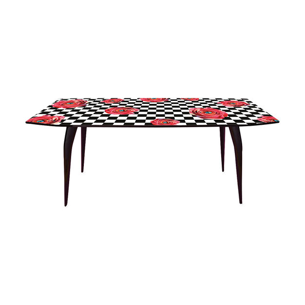 Seletti Wears Toiletpaper: Roses Dining Table in color