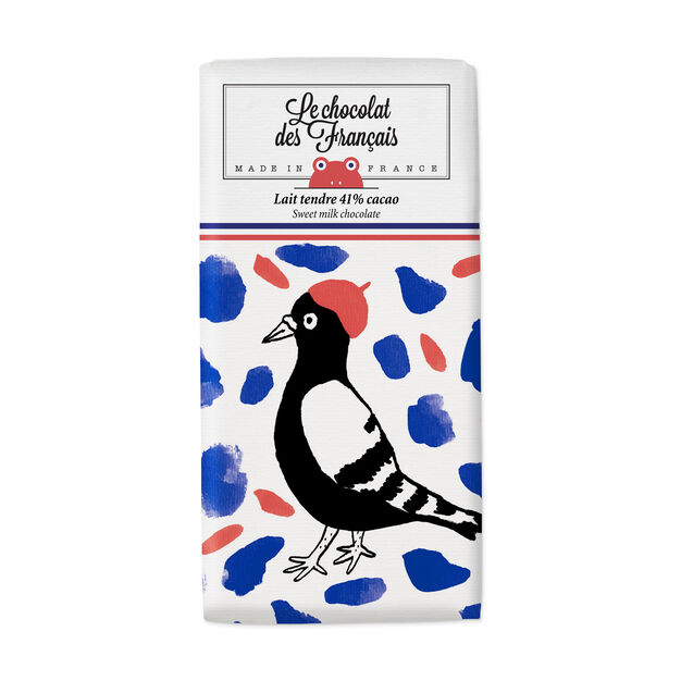 Le chocolat des Français Chocolate Bar - Oiseau in color