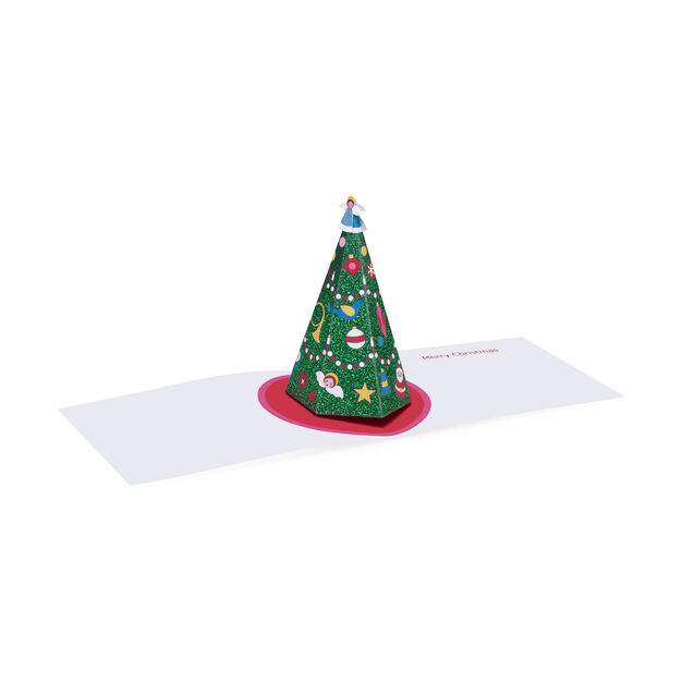Shimmering Tree Holiday Cards - Set of 8 in color