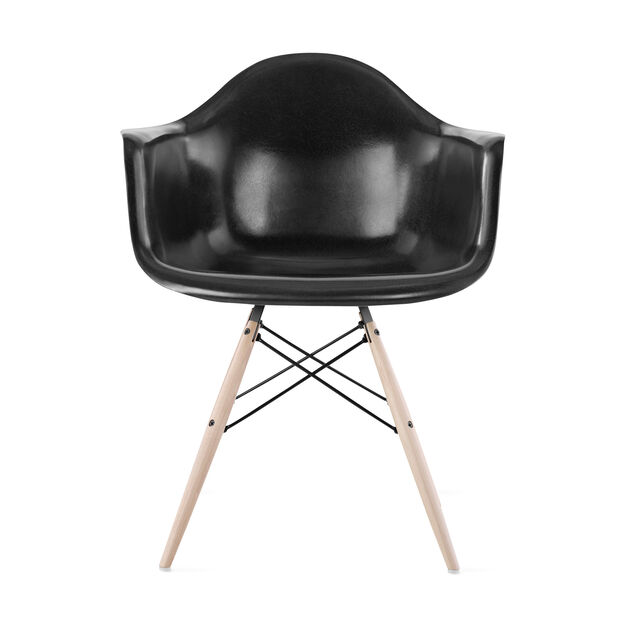 Eames DFAW Armchair  Black in color