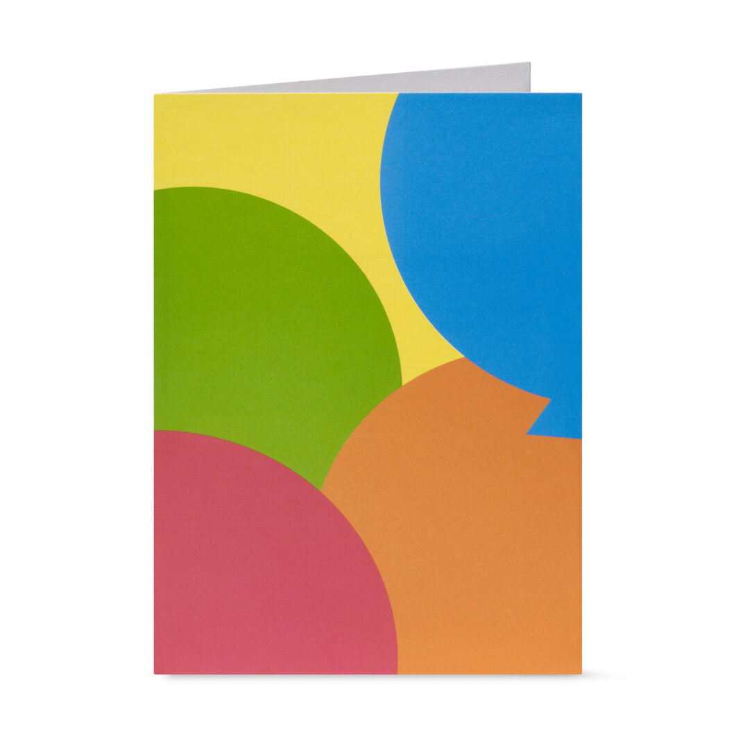 Birthday Balloons Pop-Up Note Cards - Set of 6 in color
