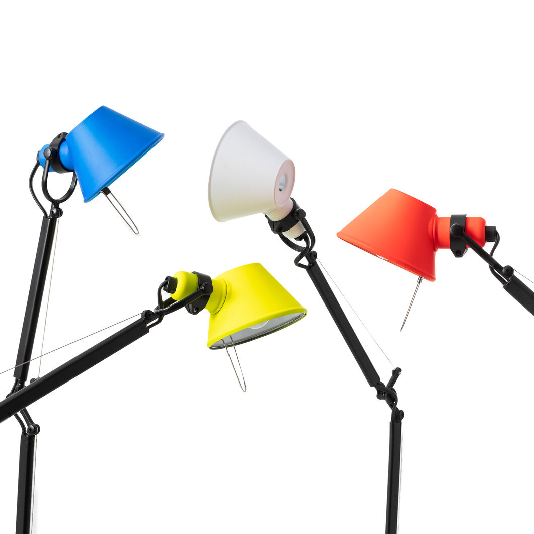 Tolomeo Micro Bi Color Desk Lamp in color Yellow