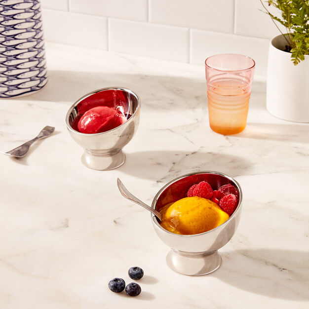 Stainless Steel Ice Cream Bowls in color