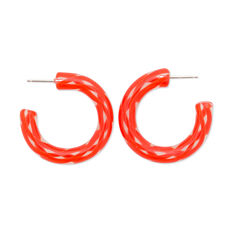 Keane Twist Earrings in color Red