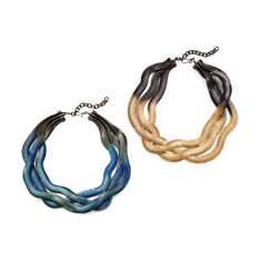 Fern Necklace in color Blue/Green/Black