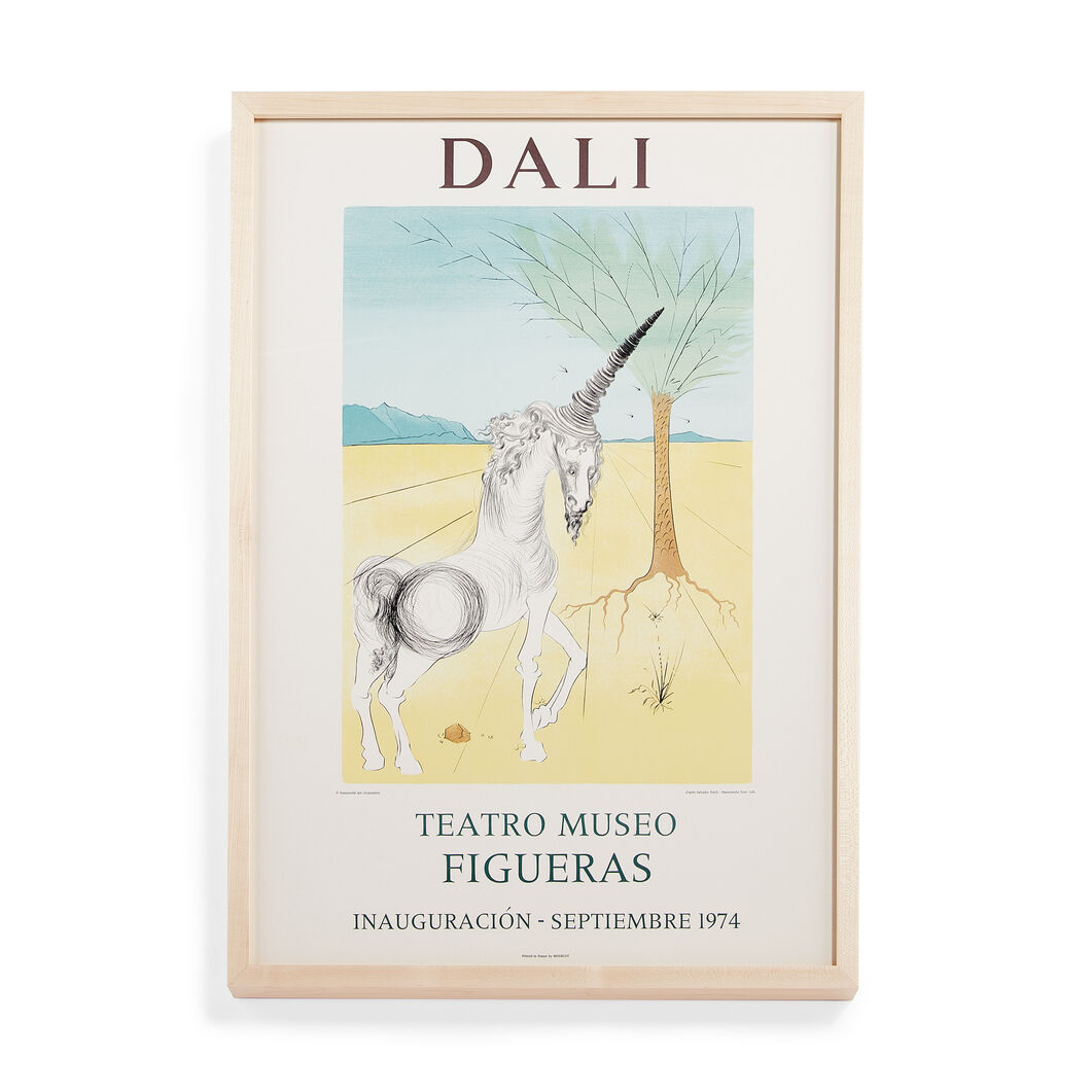 Salvador Dalí: Museum Opening (Unicorn) Framed Poster in color