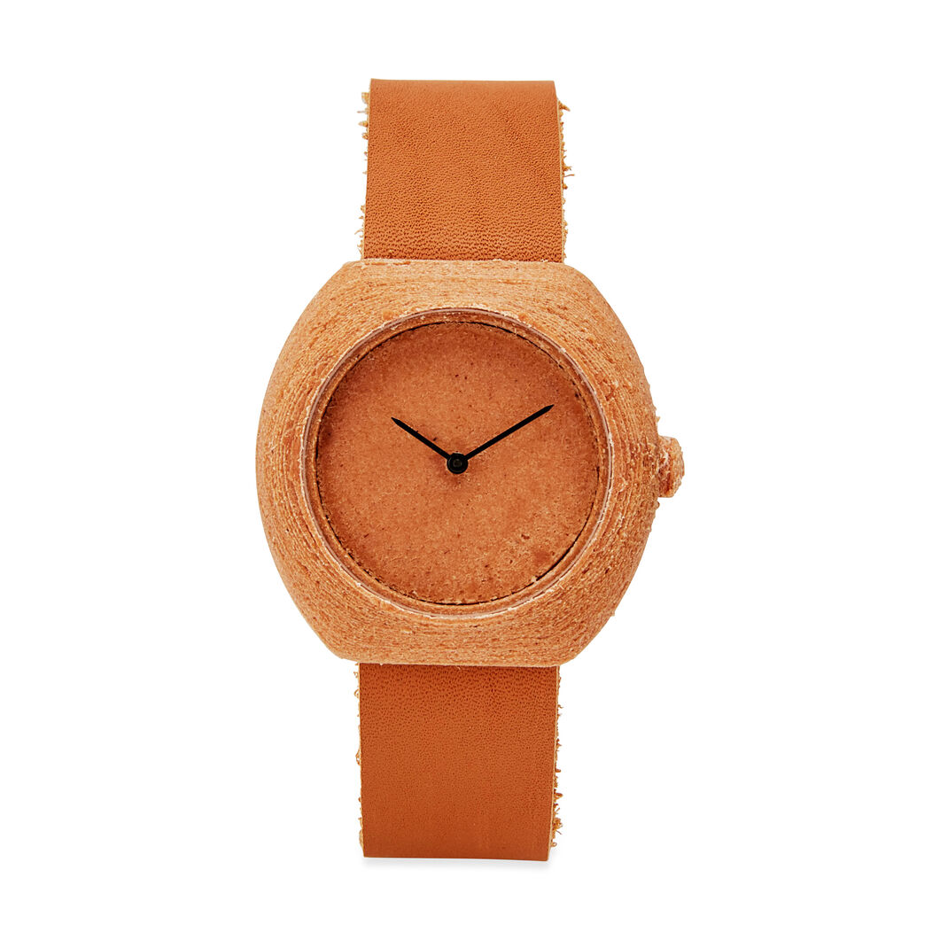 3D-Printed Step Watch in Cedar in color
