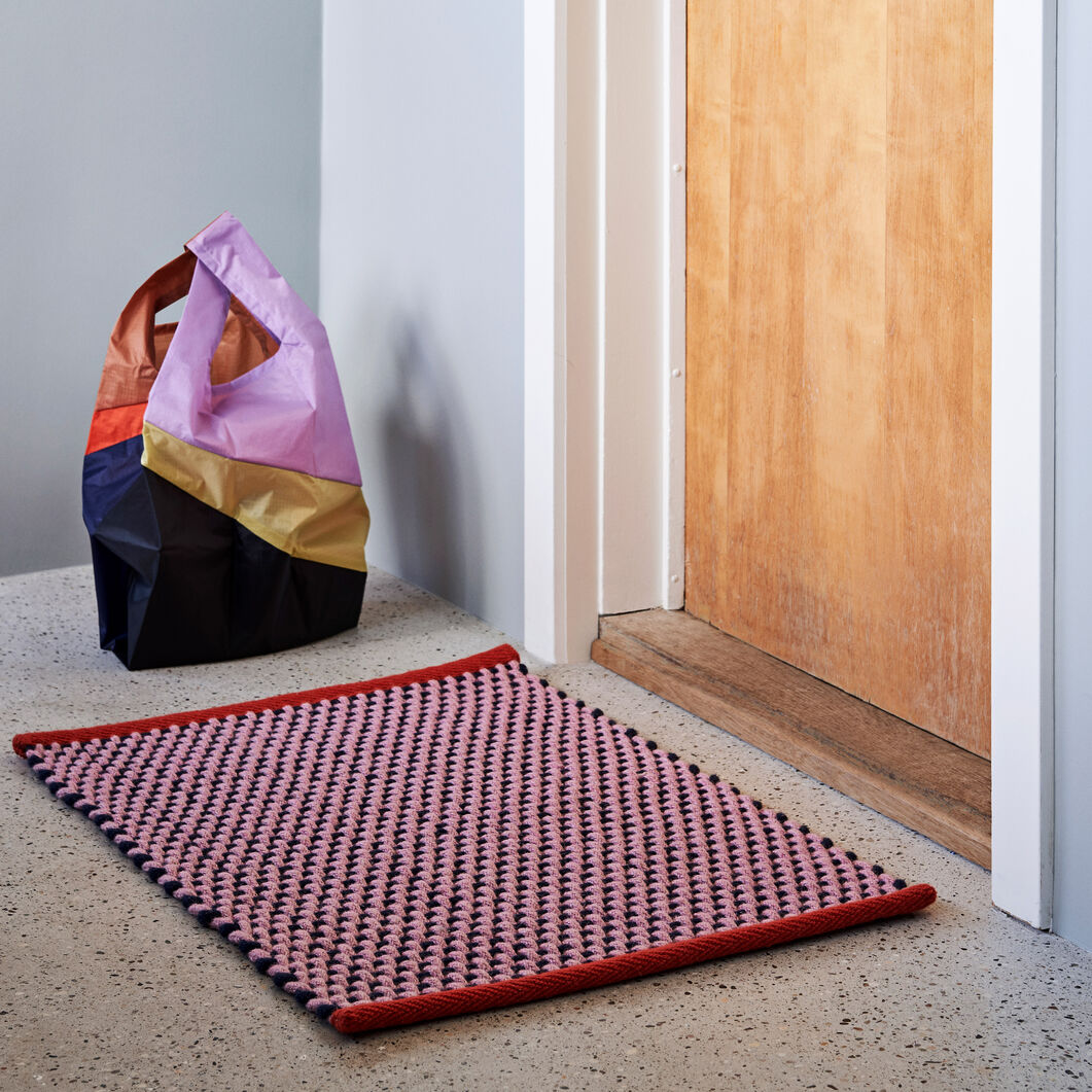 HAY Door Mat in color Pink