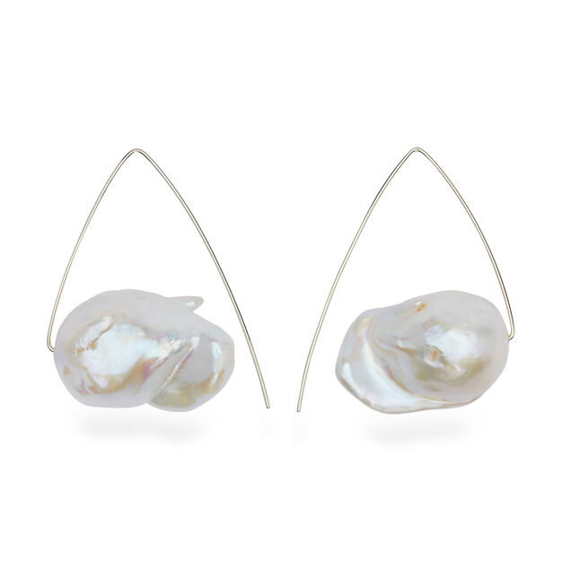 Melissa McArthur Triangle Baroque Pearl Earrings in color