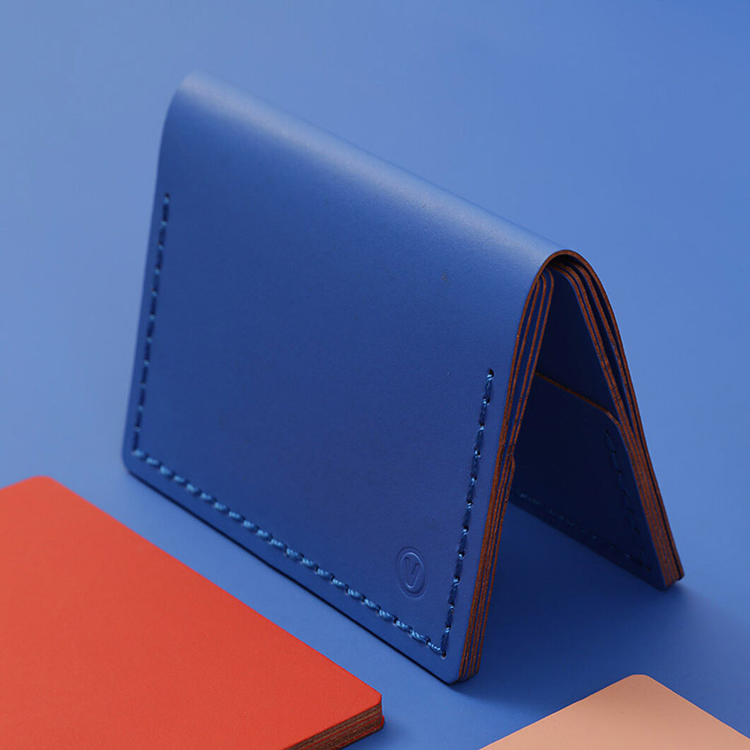 Double Mini Wallet in color Blue
