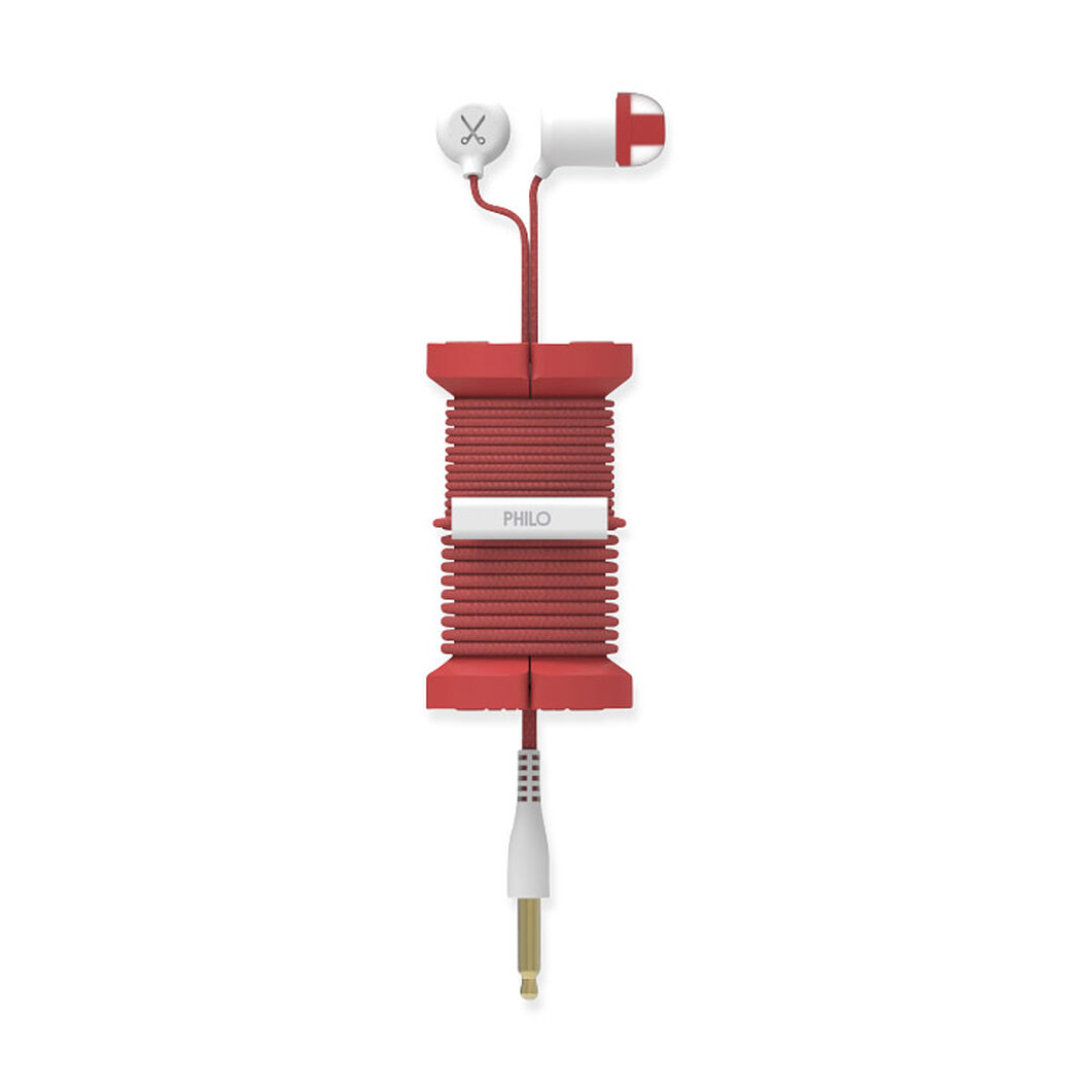 Lightning Cable Spool in color Red