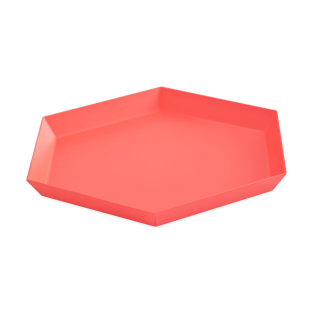 HAY Kaleido Tray Small in color Red