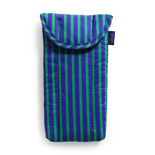 Baggu Padded Glasses Case in color Cobalt/ Jade