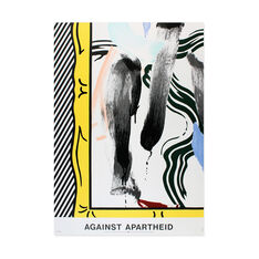Roy Lichtenstein: Against Apartheid Poster in color
