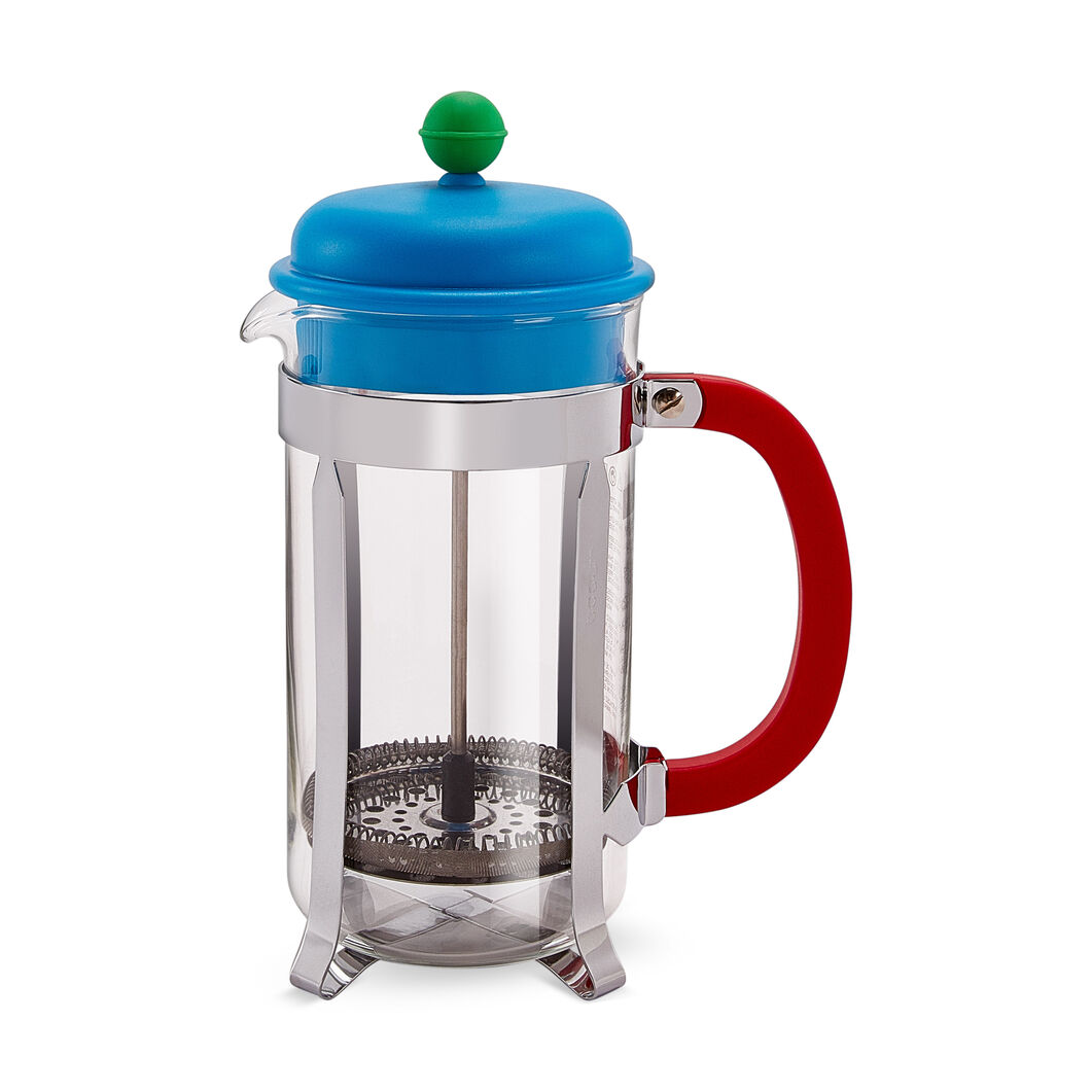 Caffettiera French Press in color Blue/Red