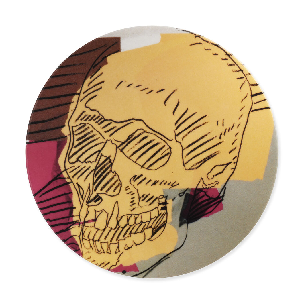 Andy Warhol Skull Plates in color
