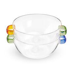 Multicolor Glass Bowl in color Blue/ Green