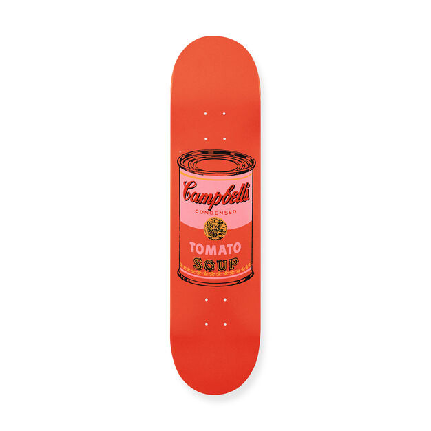 Andy Warhol: Skateboard Colored Campbell's Soup Cans Peach in color Peach