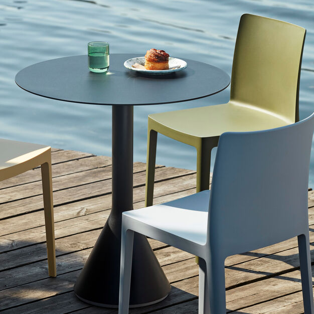 HAY Palissade Cone Table in color Anthracite