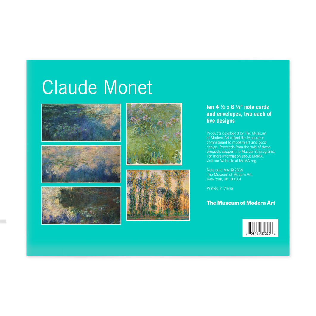 Claude Monet Note Card Box in color