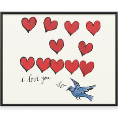 Warhol: I Love You So Framed Print 8x10 in color