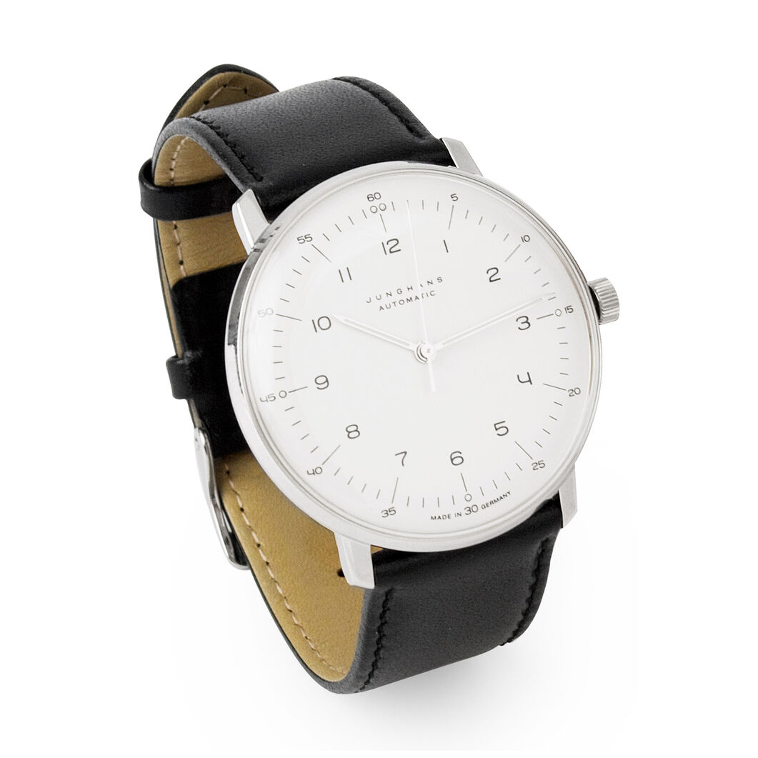Automatic Max Bill Watch- Black in color