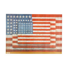 Jasper Johns: Three Flags Poster in color