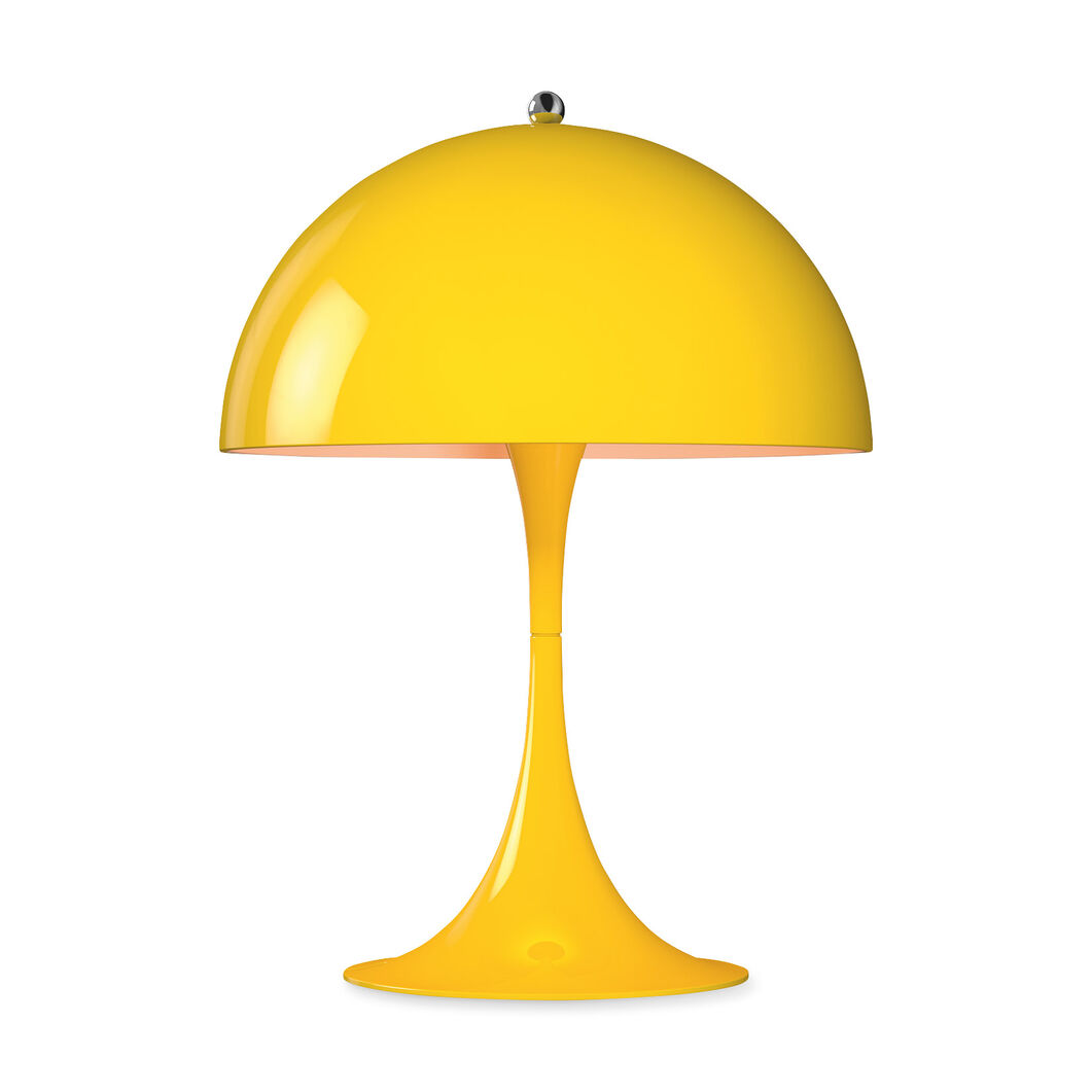 Panthella Mini Table Lamp in color Yellow