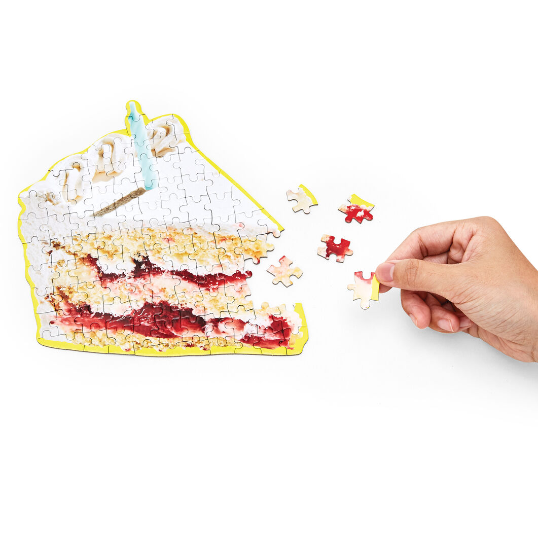 Little Things Puzzle Food Series in color Birthday Cake
