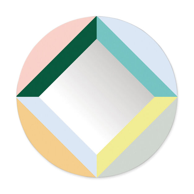 Geometric Wall Mirrors in color Multi