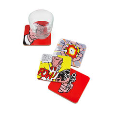 Roy Lichtenstein: Comics Coasters in color