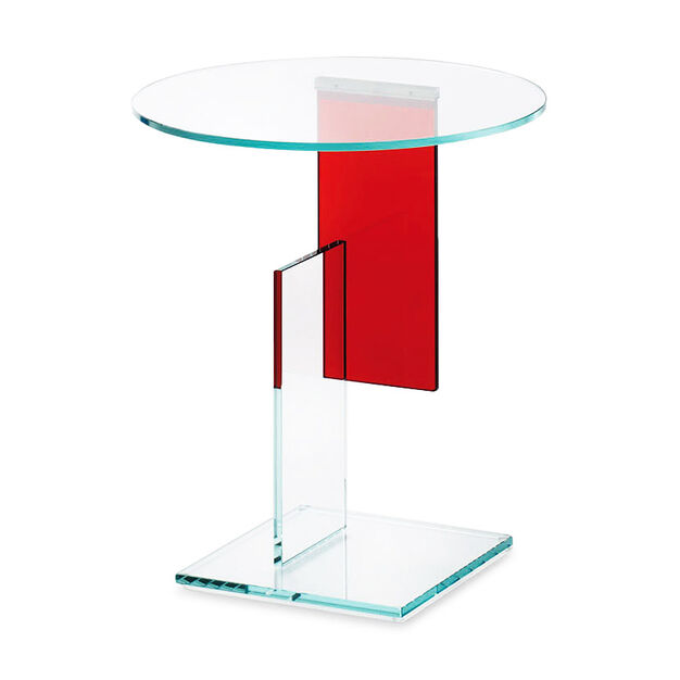 Gerrit Glass Side Table in color