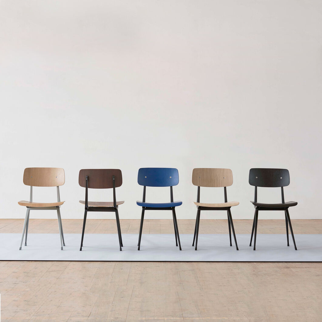 HAY Result Chair in color Black Oak/ Black