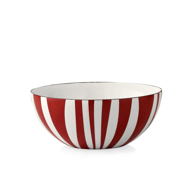 Medium Striped Bowls in color Red