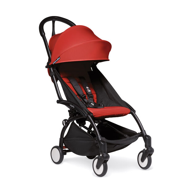 """<div>Babyzen™ <span style=""""font-weight: 400;"""">YOYO<sup><span style=""""font-weight: 400;"""">2</span></sup></span> 6+ Complete Stroller</div> in color Red/ White"""