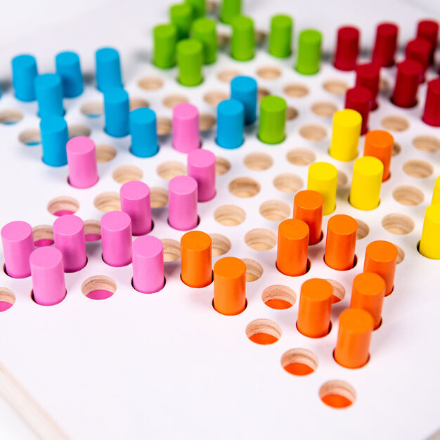Halma Chinese Checkers in color