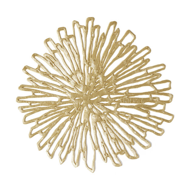 Chilewich Bloom Coaster - Set of 6 in color Gold