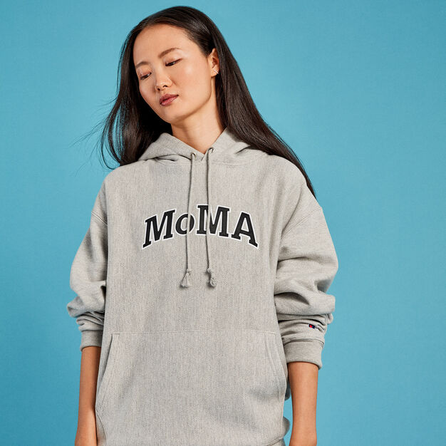 Champion Hoodie - MoMA Edition in color Gray
