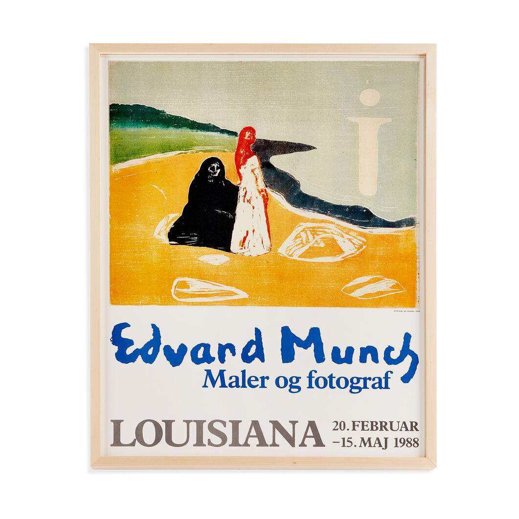 Edvard Munch: To Kvinder på Stranden, 1898 Framed Poster in color