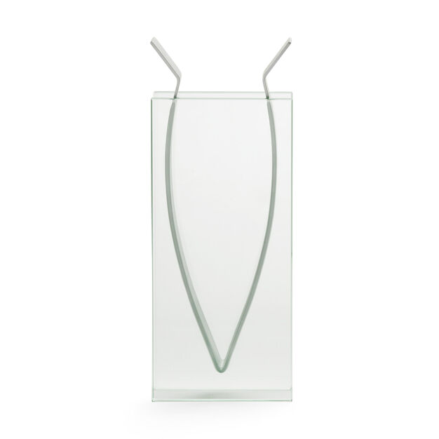 Tall Ribbon Vase in color Transparent