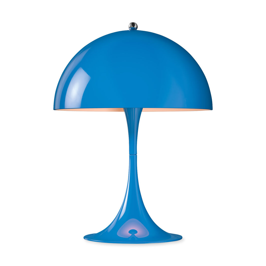 Panthella Mini Table Lamp in color Blue