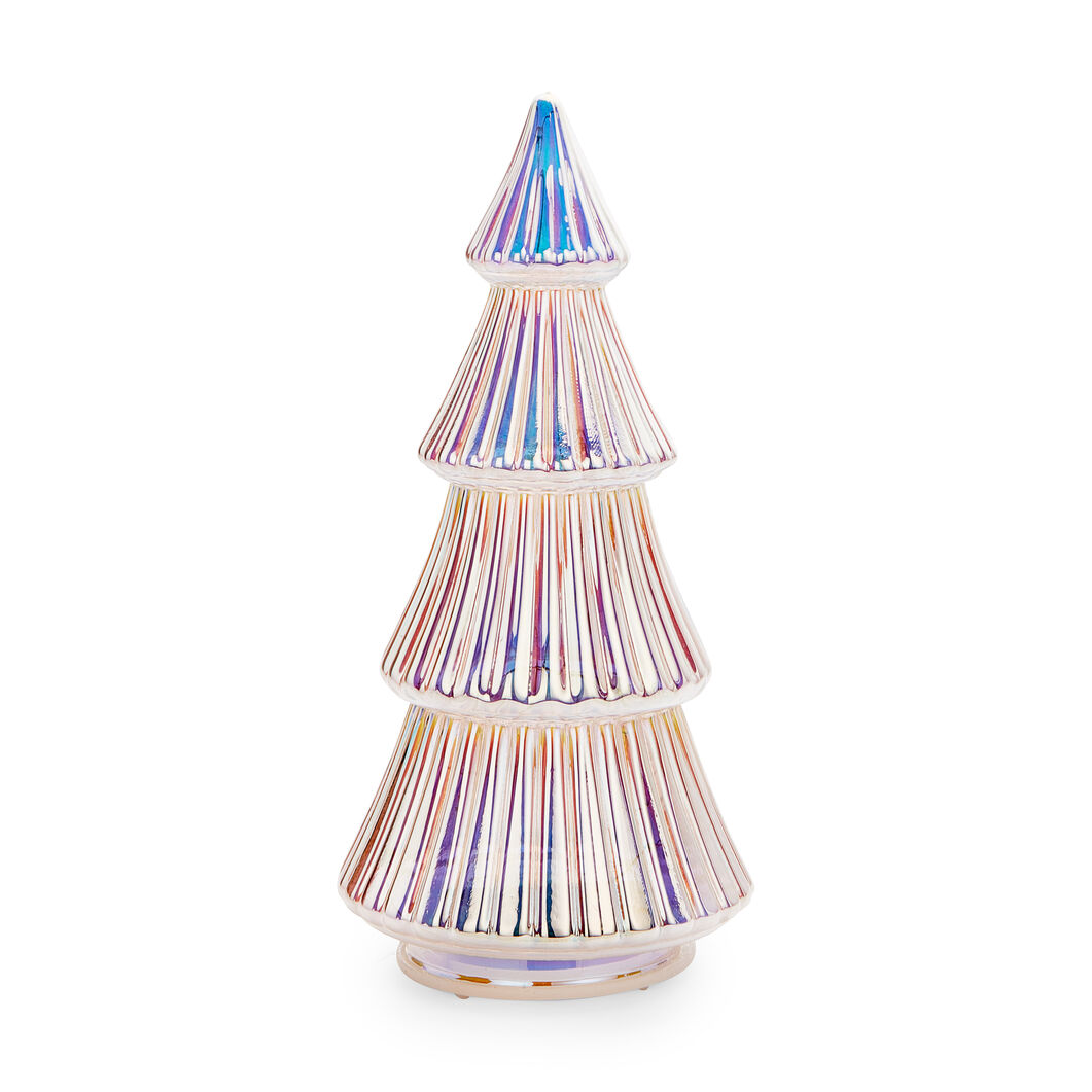 LED Glass Lighted Tree in color Iridiscent