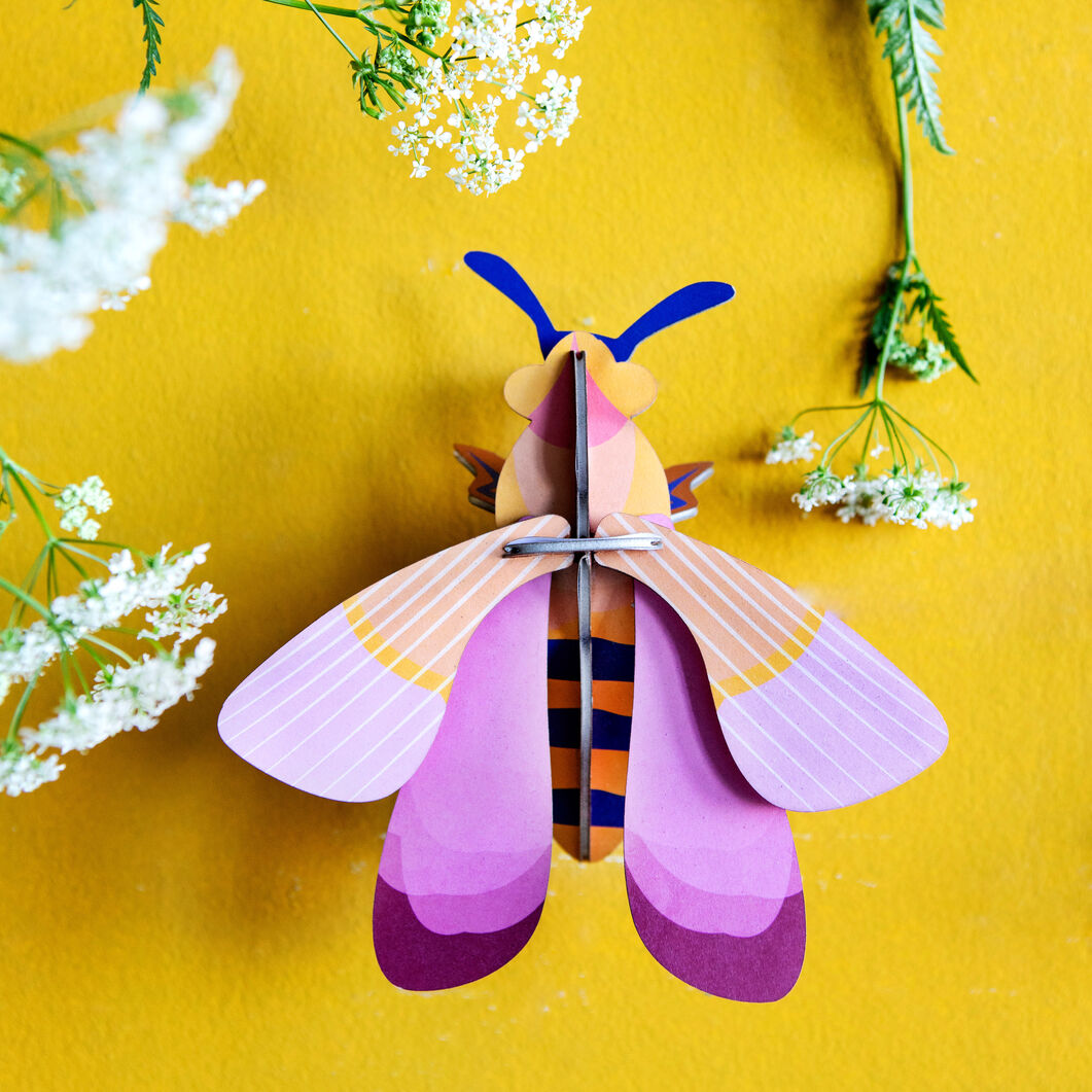 3D DIY Decorative Insects in color Pink Bee