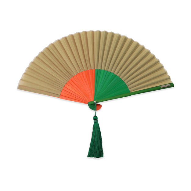 Multi-Colored Japanese Fans in color Beige