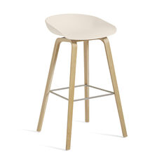 HAY About a Stool Barstool in color Cream White/ Oak
